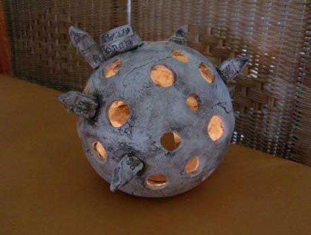 teelichthalter aus keramik handgearbeitet - NR: 109