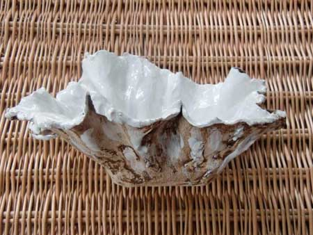 Keramikschale weiß glasiert - NR: 116 - VERKAUFT