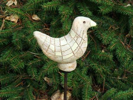 keramikvogel natur dekoration für den garten  - NR: 132 - VERKAUFT