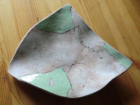 flache edle schale aus keramik - NR: 138 - VERKAUFT