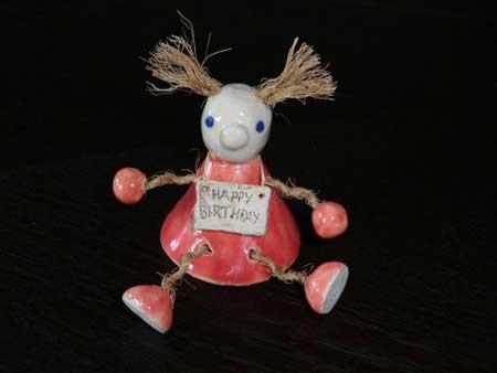 kantenhocker zum geburtstag aus keramik - NR: 139