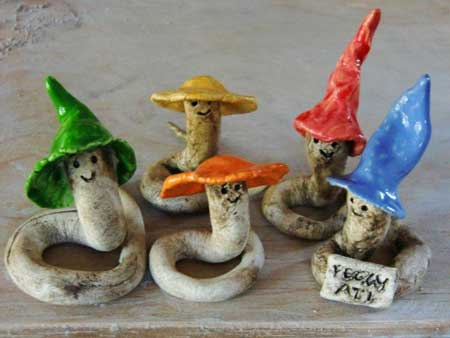 keramik würmer als gastgeschenk - NR: 141