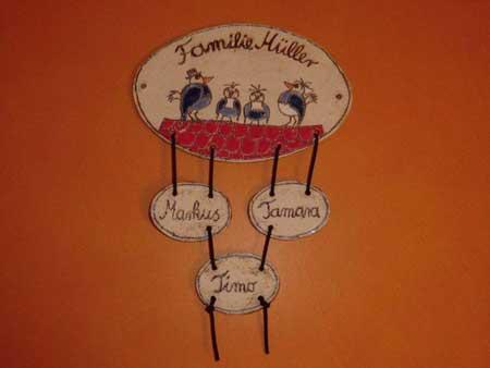 Individuelle Hausschilder oder Tuürschilder aus Keramik - NR: 150 - VERKAUFT