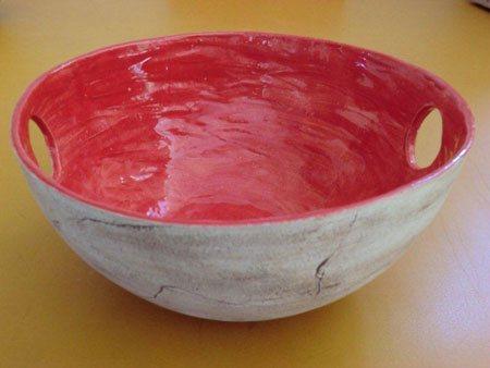 individuell gestaltete Pflanzschale oder Obstschale aus Keramik - NR: 151 - VERKAUFT