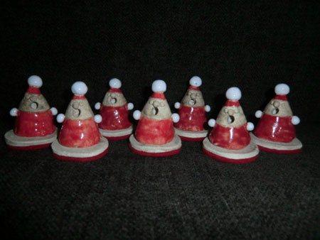 kleiner Keramik Räucher Weihnachtsmann / KS Töpferei Chemnitz - NR: 154