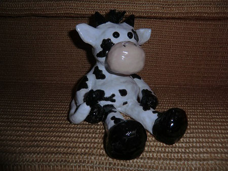 individuell hergestellte Kuh aus Keramik - NR: 178 - VERKAUFT