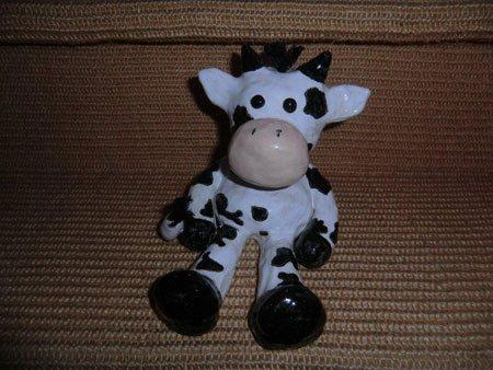 individuelle Keramik - Kuh nach Comiczeichnung - NR: 179 - VERKAUFT