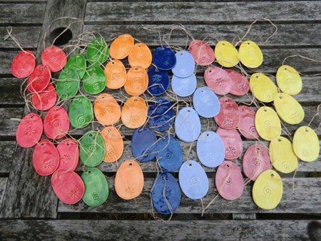 Keramik Ostereier - NR: 182 - VERKAUFT