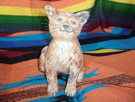 Katze in Naturfarbe - NR: 184 - VERKAUFT