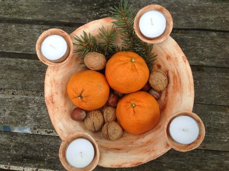 ein Keramik Kerzenhalter - das Unikat zum Advent