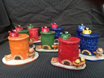 handgemachte Keramik Räucheröfen als Weihnachtsdeko in der Adventszeit - NR: 156