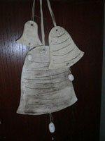 Glocke aus Ton Weihnachtsdekoration - NR: 158
