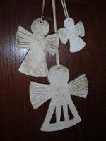 Engel aus Ton als Baumanhänger zur Weihnachtsdekoration - NR: 159