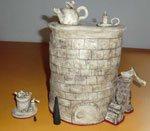 Räucherofen Set - individuell gestaltete Keramik - NR: 177