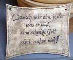 Wuensche für die Nachbarschaft und Gaeste aus Keramik als Haustuerschild - NR: 215